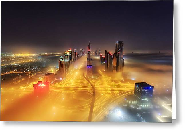 Fog Invasion Greeting Card by Mohammad Rustam