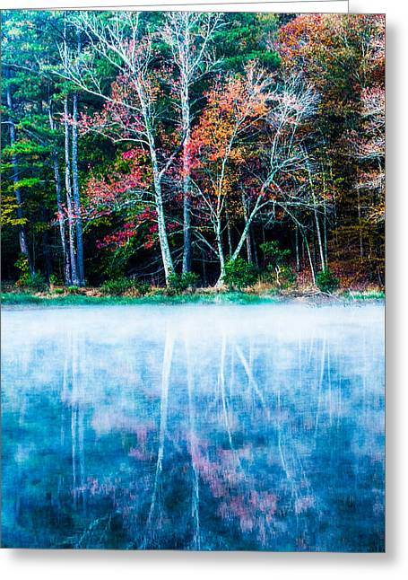 Alabaster Greeting Cards - Fog On The Lake Greeting Card by Parker Cunningham