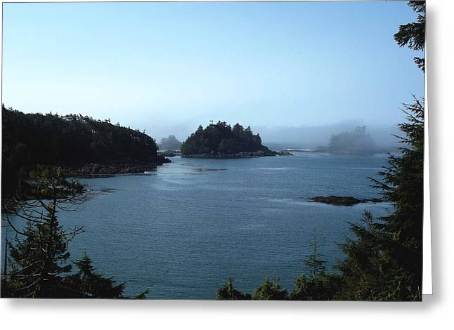 Foggy Ocean Paintings Greeting Cards - The Fog Greeting Card by Denise Peat