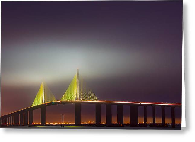 Photographers Forest Park Greeting Cards - Foggy Dawn Greeting Card by Jon Glaser