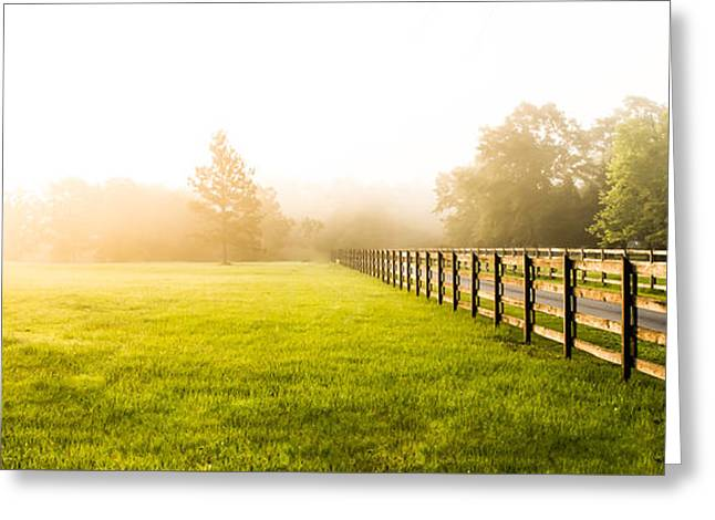 Dazed Greeting Cards - Foggy Landscape Greeting Card by Shelby  Young