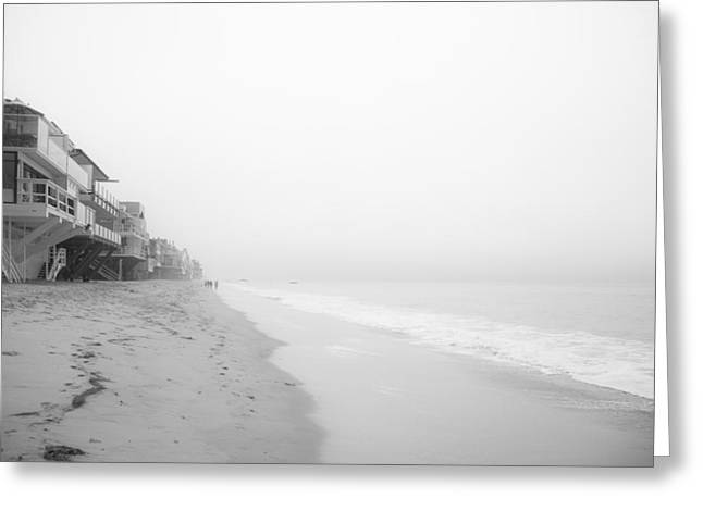Best Sellers -  - Foggy Beach Greeting Cards - foggy Malibu Beach  Greeting Card by Ralf Kaiser