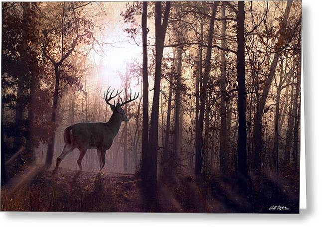 Fog Mixed Media Greeting Cards - Foggy Morning in Missouri Greeting Card by Bill Stephens