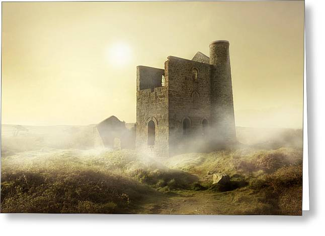 Left Alone Greeting Cards - Foggy morning in western UK Greeting Card by Jaroslaw Blaminsky