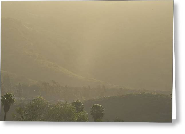 Sunrise Over California Greeting Cards - Foggy Morning Greeting Card by Linda Brody
