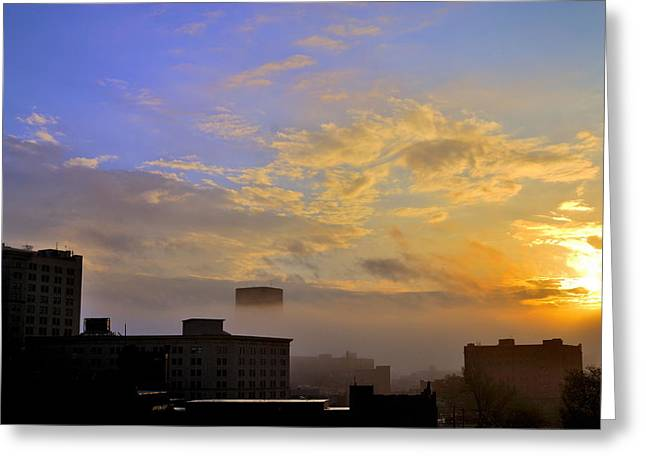 Csu Greeting Cards - Foggy Morning Greeting Card by Tom Kilbane