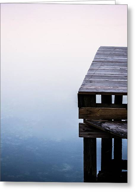 Reflection On Calm Pond Greeting Cards - Foggy Sunrise Greeting Card by Parker Cunningham