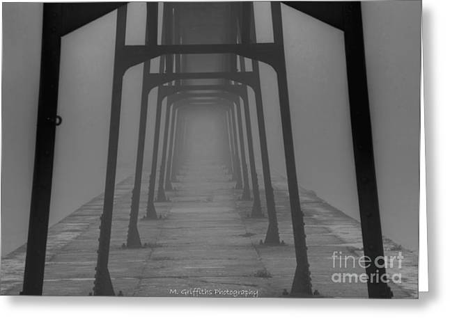 Ghostly Greeting Cards - Foggy Tunnel Greeting Card by Mike Griffiths