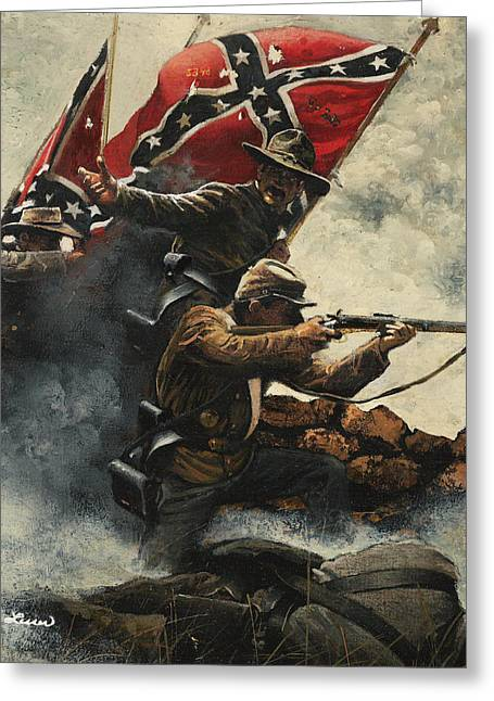 Confederate Flag Greeting Cards - Follow Me Boys Greeting Card by Ron Lesser