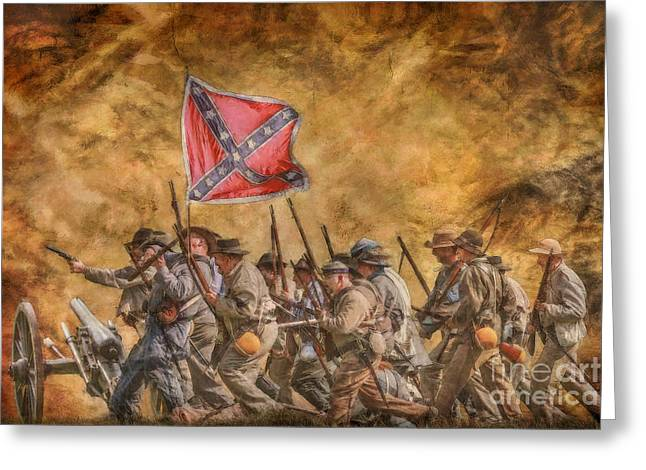 Follow The Flag Greeting Card by Randy Steele