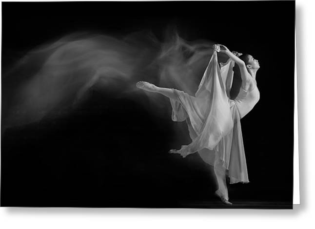 Ballet Dancers Greeting Cards - Follow The Flow Greeting Card by Andre Arment
