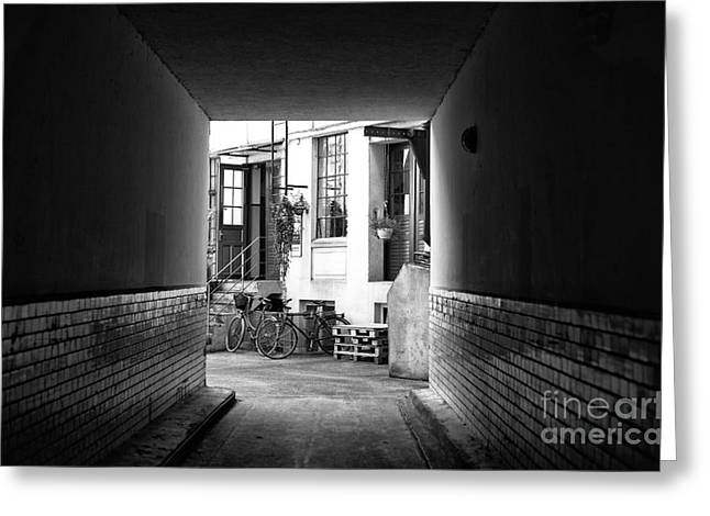 Street Art For The Home Greeting Cards - Follow the Light in Hamburg mono Greeting Card by John Rizzuto