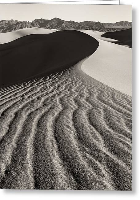 Sand Pattern Greeting Cards - Follow The Lines Greeting Card by Jonathan Nguyen