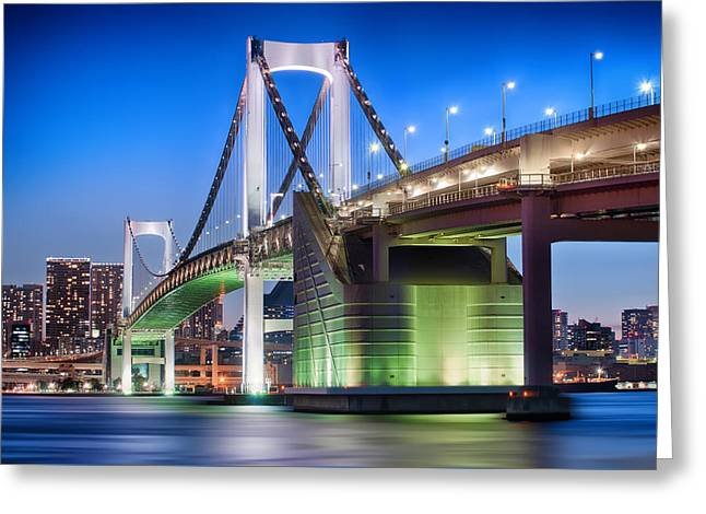 Famous Bridge Greeting Cards - Follow the Rainbow  Greeting Card by Duane Walker
