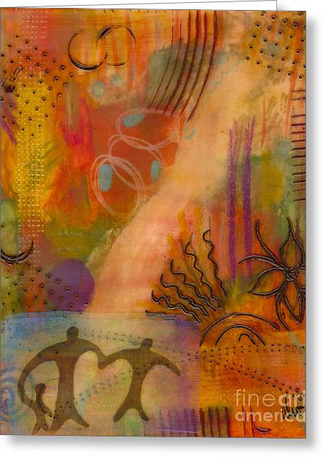 Follow The Yellow Brick Road Greeting Card by Angela L Walker