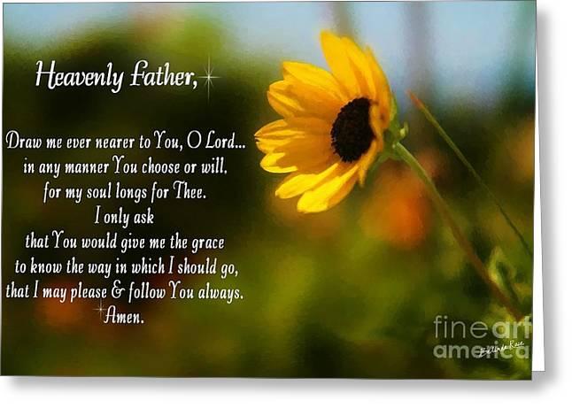 Bible Greeting Cards - Follow Thee Greeting Card by Belinda Rose