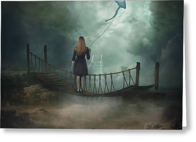 """photo Manipulation"" Greeting Cards - Follow Your Dream .. Greeting Card by Nataliorion"