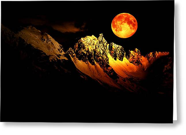 Follow Your Inner Moonlight Greeting Card by Michele Cornelius