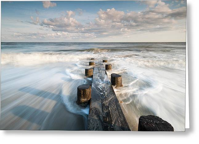 Barrier Island Greeting Cards - Folly Beach Charleston South Carolina Greeting Card by Mark VanDyke