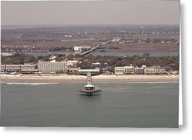 Folly Beach South Carolina Greeting Card by Dustin K Ryan