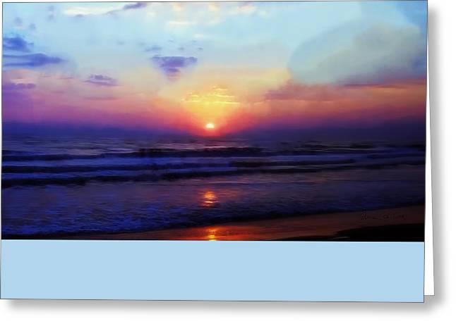 Folly Beach South Carolina Sunrise Greeting Card by Bellesouth Studio