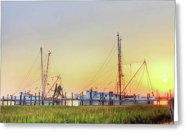 Folly Fishing Boats  Greeting Card by Drew Castelhano