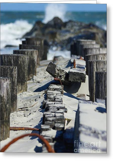Beach Photos Greeting Cards - Folly Sea Wall Greeting Card by Jennifer White