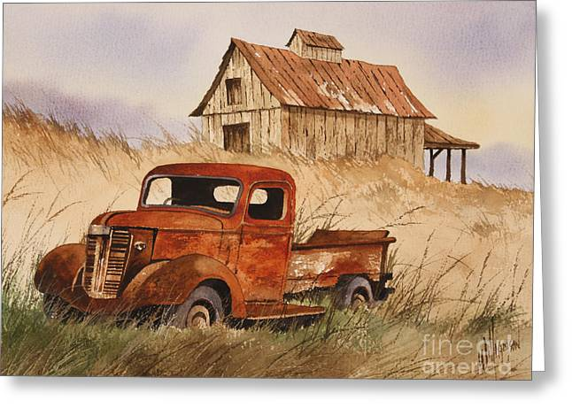 Old Trucks Greeting Cards - Fond Country Memories Greeting Card by James Williamson
