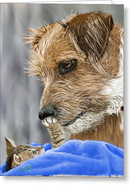 Dogs Digital Greeting Cards - Friends of Norfolk Animal Care Center  Greeting Card by Myke  Irving