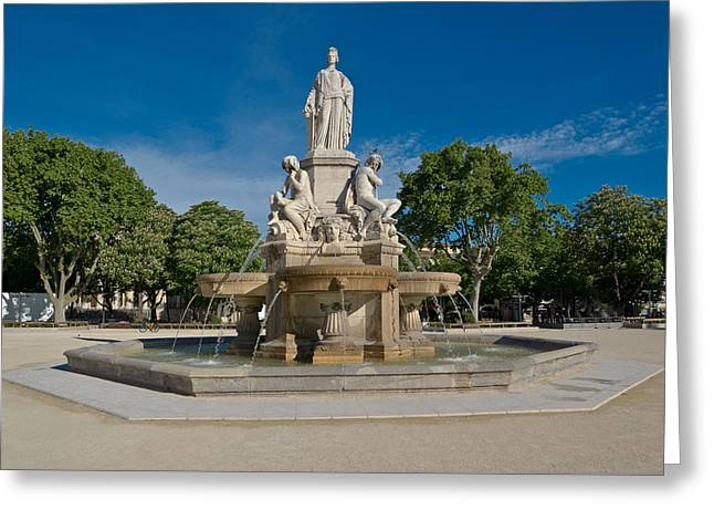 James Sculptures Greeting Cards - Fontaine de Pradier Greeting Card by Scott Carruthers