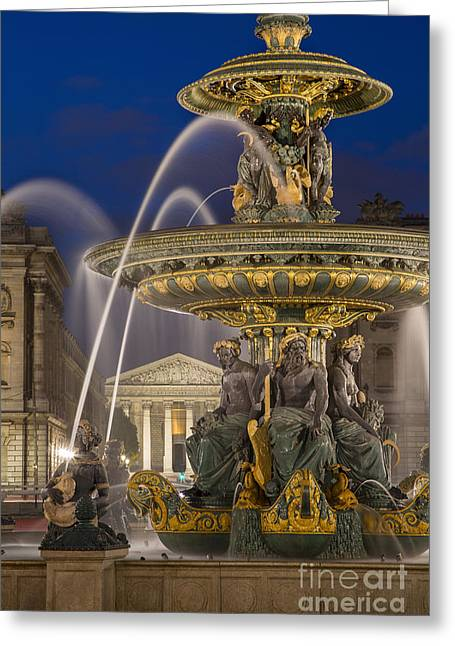 Art Of Building Greeting Cards - Fontaine des Fleuves Greeting Card by Brian Jannsen