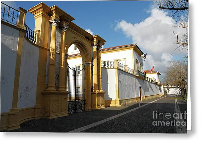 Fonte Bela Palace - Azores Greeting Card by Gaspar Avila
