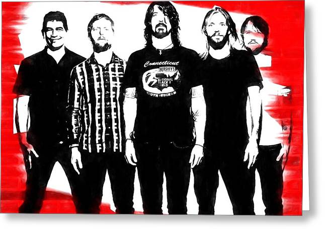 Foo Fighters Graphic Tribute Greeting Card by Dan Sproul