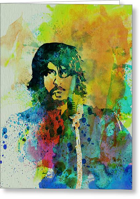 Musician Greeting Cards - Foo Fighters Greeting Card by Naxart Studio