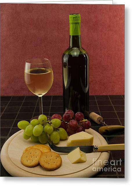 Red Wine Bottle Greeting Cards - Food And Drink Greeting Card by F Helm