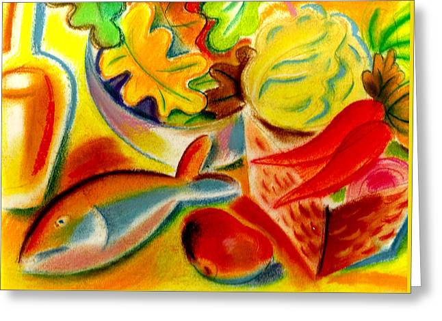 Food And Weight Loss  Greeting Card by Leon Zernitsky