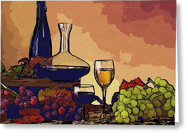 Local Food Digital Greeting Cards - Food Art Greeting Card by Michael Vicin