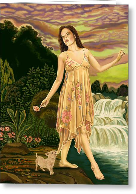 Goddess Print Greeting Cards - Fool Card Greeting Card by Pamela Wells