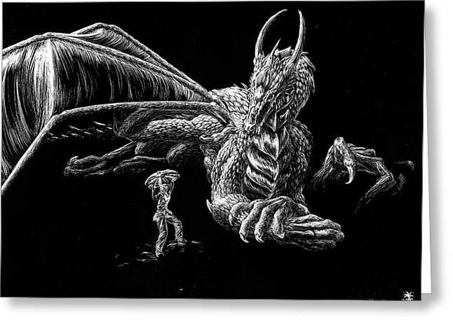 Winged Reliefs Greeting Cards - Foolish Human Greeting Card by Morgan Banks
