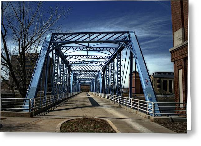 Foot Bridge Over The Grand River Greeting Card by Richard Gregurich