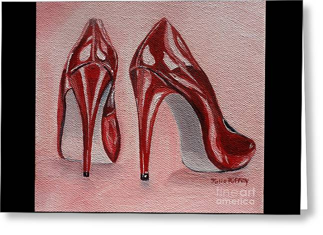 Patent Leather Greeting Cards - Foot Candy Greeting Card by Julie Brugh Riffey