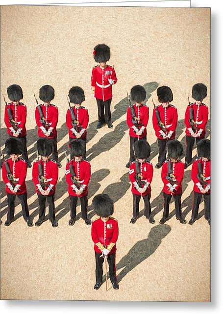 British Royalty Digital Greeting Cards - Foot Guards Greeting Card by Roy Pedersen