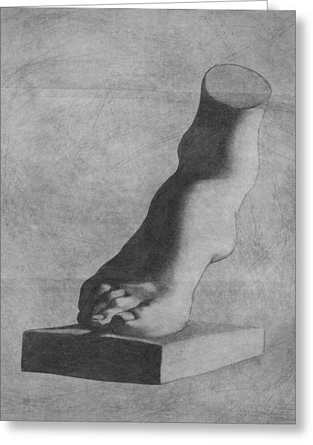 Feet Greeting Cards - Foot of the Medici Venus Greeting Card by Stevie The floating artist
