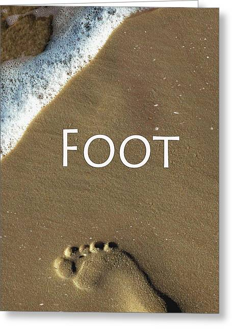 Installation Art Greeting Cards - Foot Greeting Card by Tina M Wenger