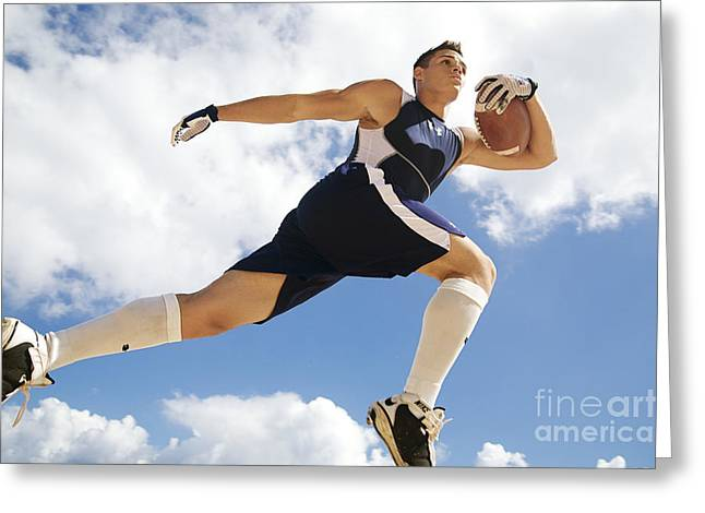 Physical Body Greeting Cards - Football Athlete II Greeting Card by Kicka Witte - Printscapes