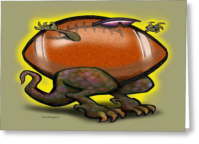 Football Beast Greeting Card by Kevin Middleton