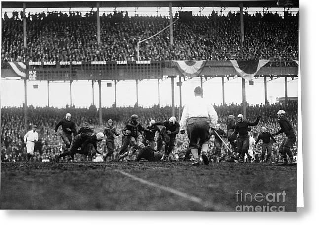 Football Photographs Greeting Cards - Football Game, 1925 Greeting Card by Granger