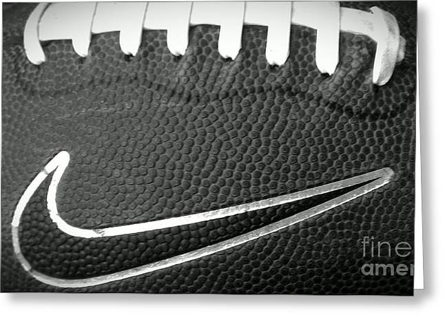 Nike Greeting Cards - Football Greeting Card by LKB Art and Photography