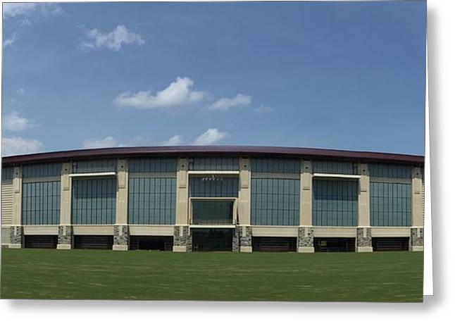 Hokies Greeting Cards - Football Practice Facility Greeting Card by Andrew Webb