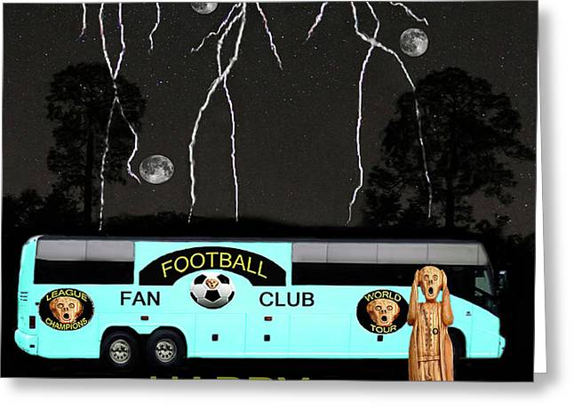 Football Scream Greeting Card by Eric Kempson
